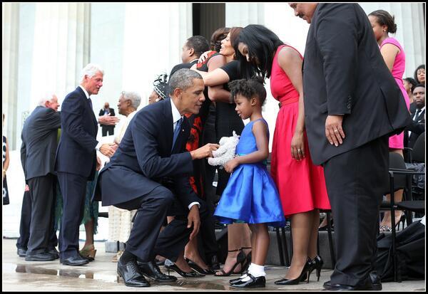 Doug Mills On Twitter Obama With Yolanda Renee King Granddaughter