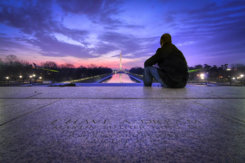 Pic Tweet from the National Park Service: Beautiful photo of the exact spot Dr. King delivered his