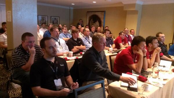 Thanks to Zerto partners for attending our roadmap session. Full house! #VMworld http://twitter.com/ZertoCorp/status/372799517705650176/photo/1