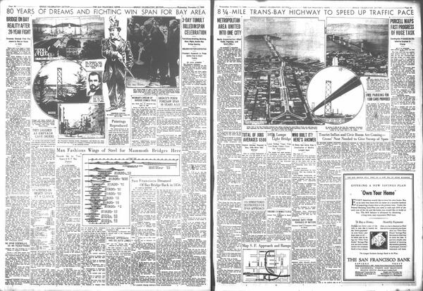 Closing tonight - but only for the weekend.  Here's how the SF News reported on the 1936 opening of the Bay Bridge: http://twitter.com/SFPublicLibrary/status/372877465363832832/photo/1