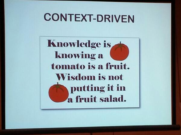 More context-driven wisdom from @QA_nna at #cast2013. http://twitter.com/krjoseph/status/372827246828195840/photo/1