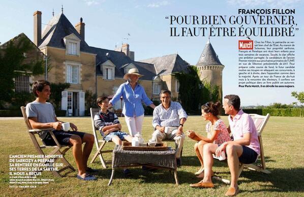François Fillon a reçu Paris Match dans son manoir de Beaucé (Archive 2013)