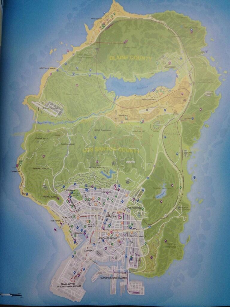 Revelado el Mapa Completo de GTA V [Oficial]