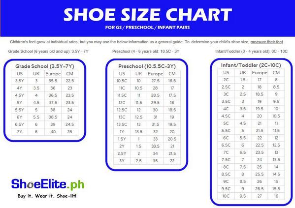 An average shoe size for a 2-year-old is a U.S. children's size 8. This is equivalent to a Euro size 24 or a U.K. size 7. This shoe size fits a foot that is inches long. To get an estimate of a child's shoe size, measure their feet with a ruler.
