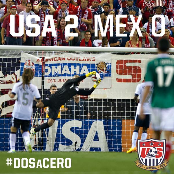 FINAL from Columbus: #USAvMEX 2-0. #DosACero