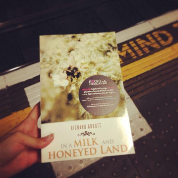 A copy of In a Milk and Honeyed Land being sent out