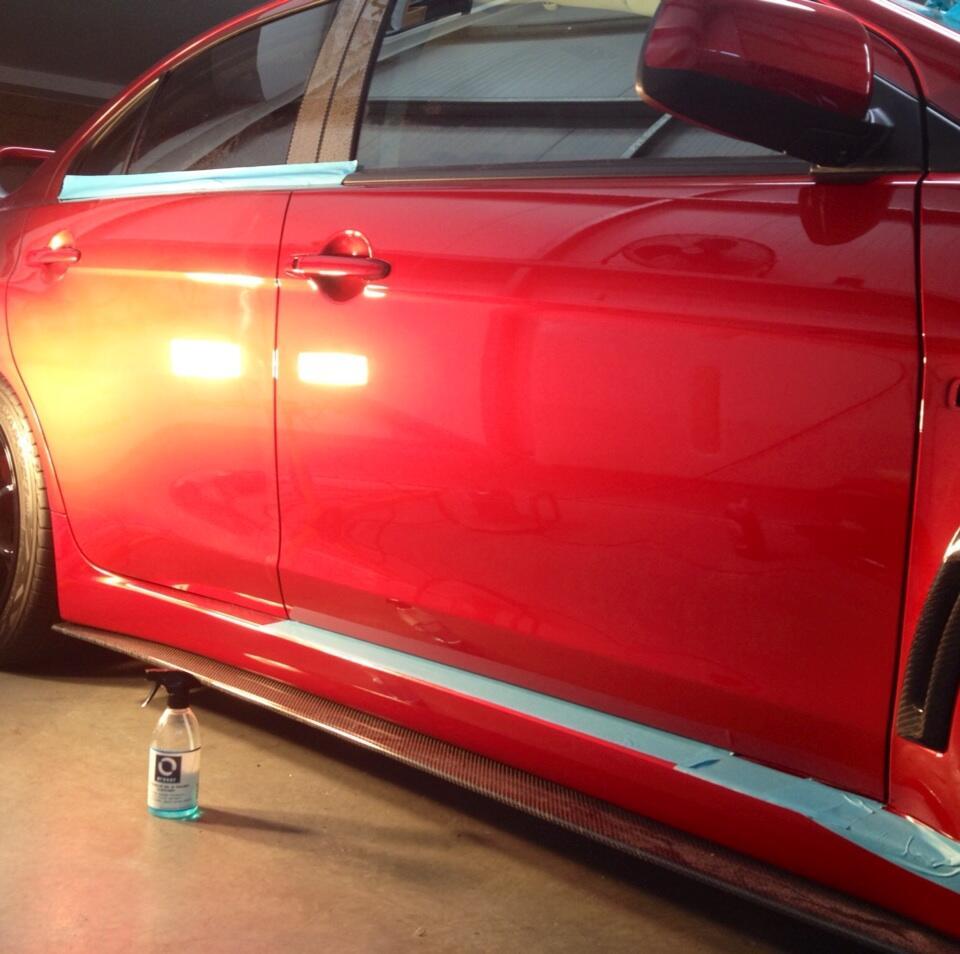 Mitsubishi Lancer Register Forum: My X Half Way Thro Paint Correction