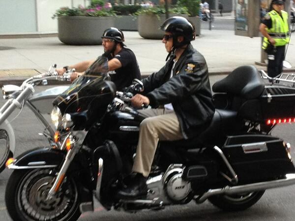 Riding into downtown #NYC this am in @Sept11Memorial Bike Ride w/ @billyjoel & @FDNY #motorcycle club: http://twitter.com/MatthewLWing/status/377760787382935552/photo/1 #Honor911
