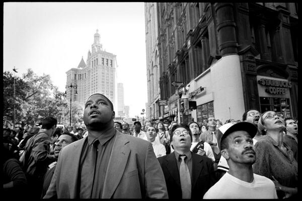 I took this photo 12 years ago today, just as the South Tower collapsed. Help me identify the subjects. http://twitter.com/patrickwitty/status/377793441666588672/photo/1