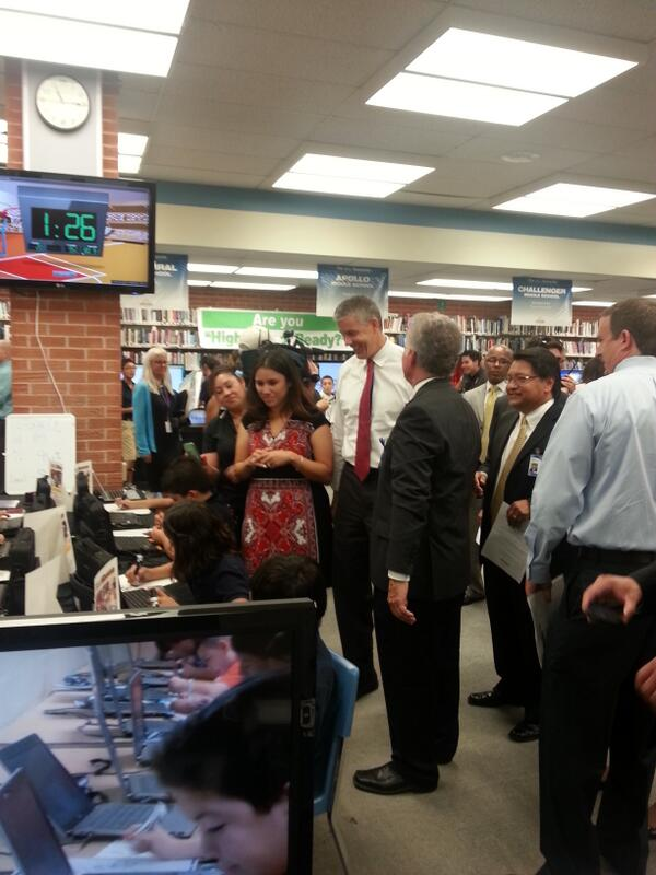 Super integration of #edtech across K-12 in AZ's Sunnyside district. See it to believe it. #edtour13 http://twitter.com/arneduncan/status/377858249305100288/photo/1