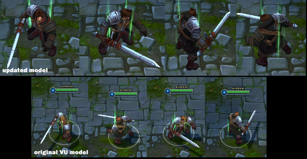 Moobeat On Twitter Rugged Garen Is Much Darker And Dirtier Also Back To One Shoulder Pad Http T Co Fg2zqxrhcn