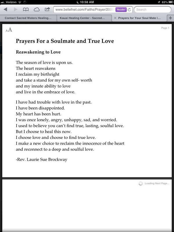 Prayer for my soulmate