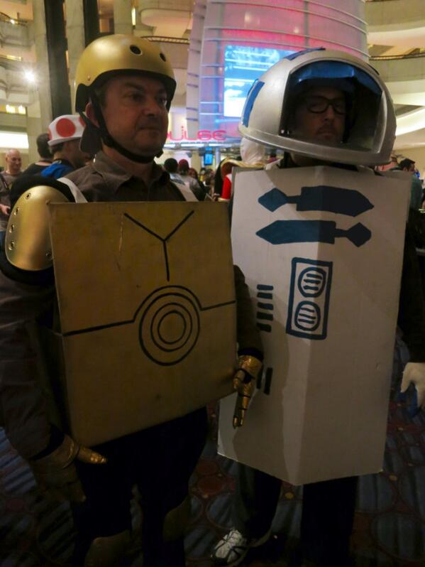 """Don't call me a mindless philosopher, you overweight glob of... cardboard."" #DragonCon http://twitter.com/starwars/status/373848681092767744/photo/1"