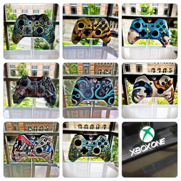 We asked 8 artists to take a paintbrush to our new #XboxOne controller. Here's what they came up with. #XboxPax http://t.co/kldPZzQomx