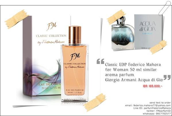 Parfum Fm On Twitter Classic Edp Federico Mahora For Woman 50 Ml