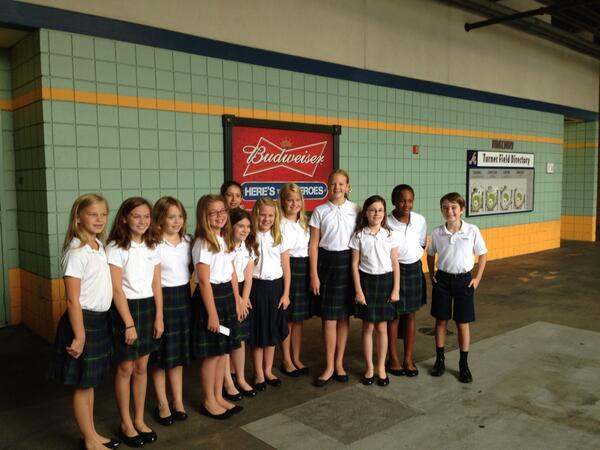 Proud of our choir... Ready to sing at the Braves game! @trinityatl #trinitylearns http://twitter.com/JennyCMcIntosh/status/374564111360983040/photo/1