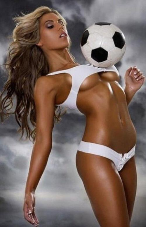 Topic, very Girls naked play football
