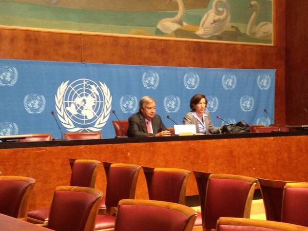 """""""2 million individual stories, 2 million responsibilities for the int'l community"""" says HC Guterres #syria"""