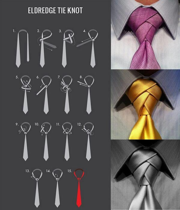 素敵なネクタイの結び方「エルドリッジ・ノット(Eldredge Knot)http://imgur.com/mLm3wkB 」