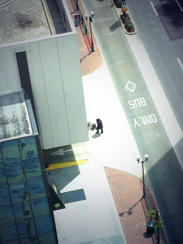 I think this is an #OPD bomb squad robot in front of SunTrust Center. http://twitter.com/ScorpyoRising/status/374970294643228672/photo/1