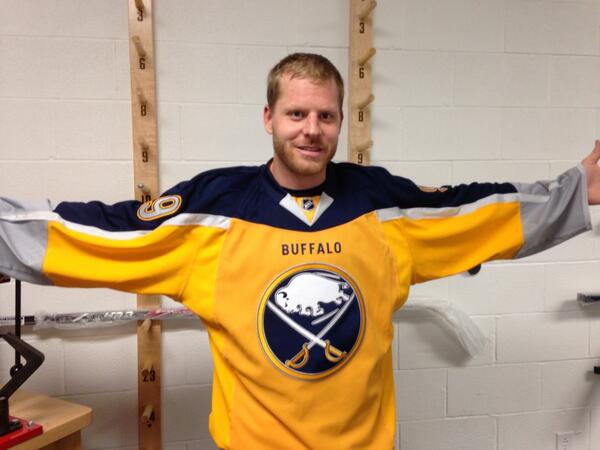 Thumbnail for Buffalo Sabres forward Steve Ott 'leaks' new third jersey
