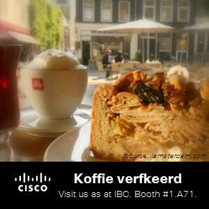 While you're in Amsterdam for #IBCshow, order koffie verkeerd at a coffee house and check out the coffee culture. http://twitter.com/CiscoSPVideo/status/375347544194564096/photo/1