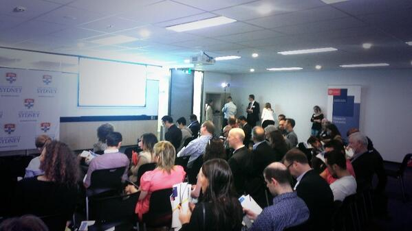 #disruptsydney is getting going! Amazing crowd assembled today. Well played, @karisyd! http://twitter.com/stevehopkins/status/375394703849431040/photo/1