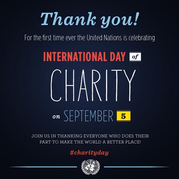 The Digital Teacher: Schools : International Day of Charity