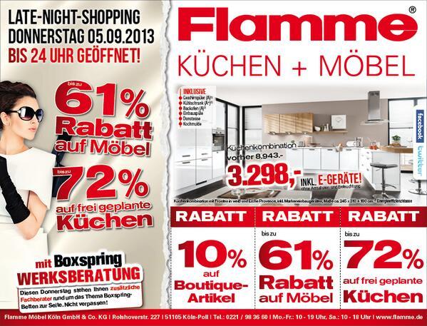 flamme m bel k ln flammekoeln twitter. Black Bedroom Furniture Sets. Home Design Ideas