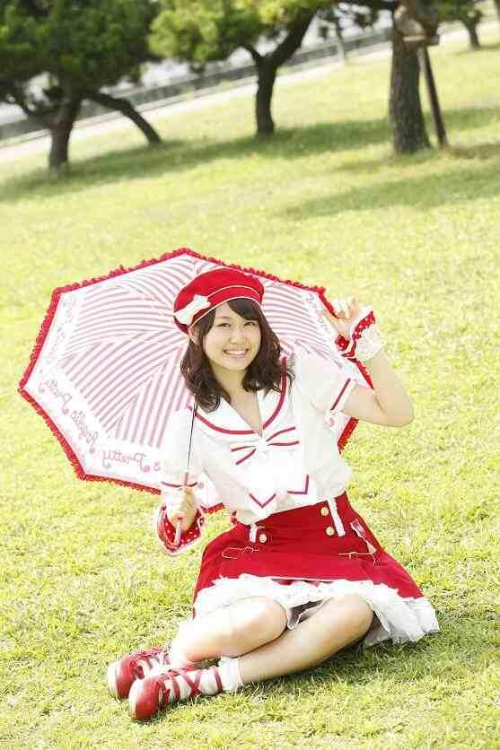 カワイイ傘と一緒です