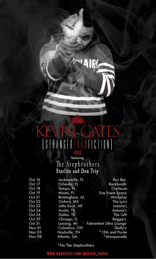 Kevin gates tour dates in Sydney