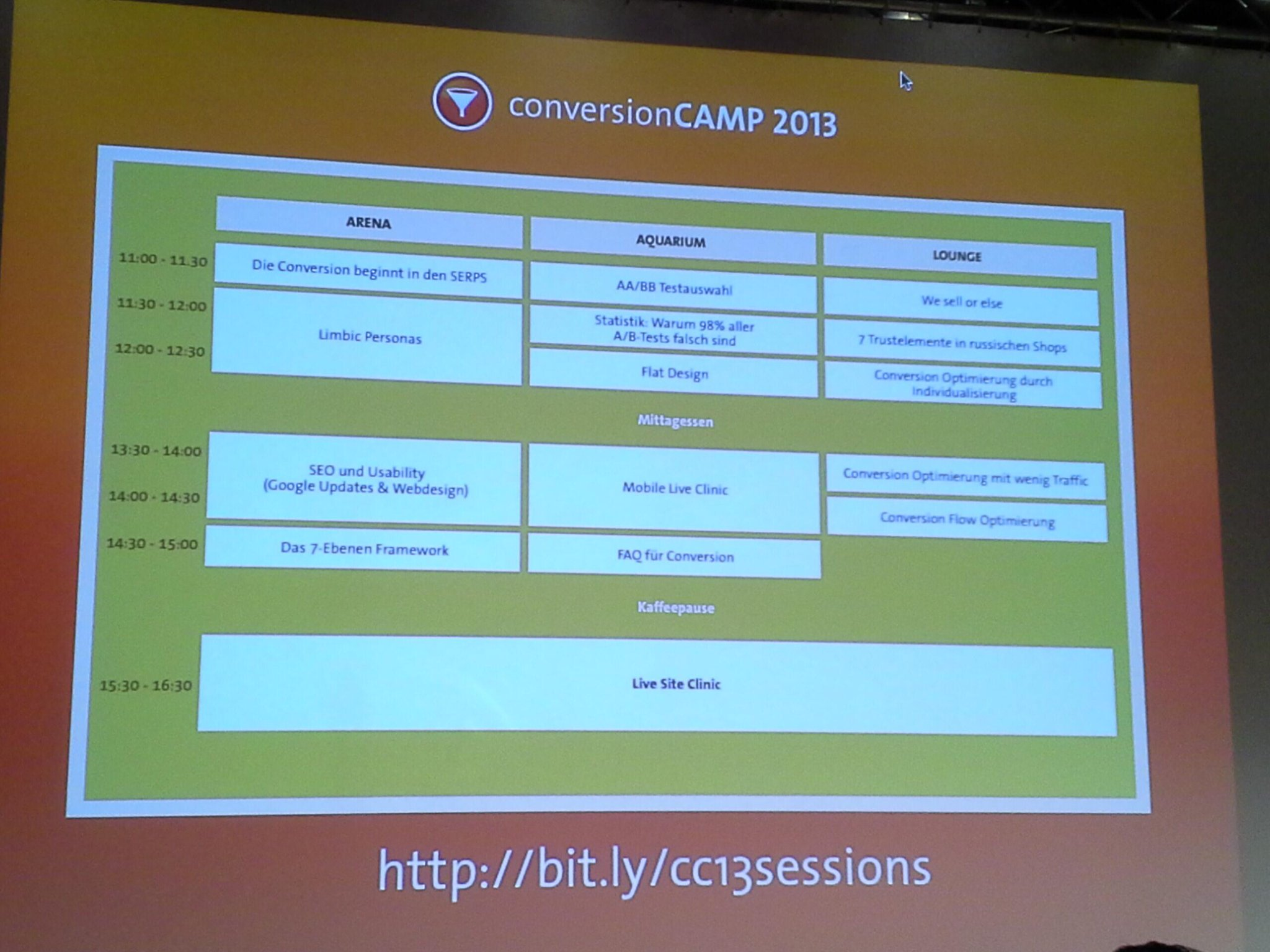 Conversion Camp Agenda