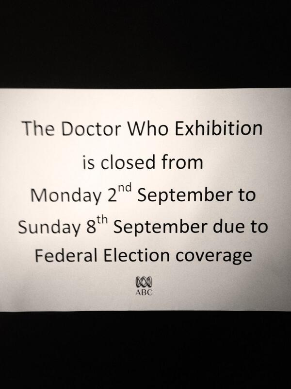 They're being used at #voterobots MT @Wendycarlisle: Dr Who exhibition bounced by Daleks #ausvotes #auspol http://twitter.com/Wendycarlisle/status/375880215089934336/photo/1