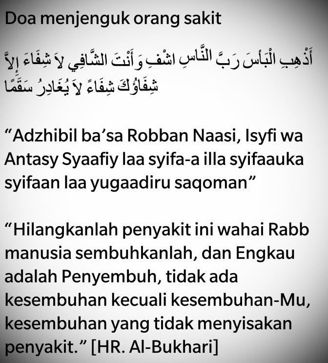 islam doa menjenguk orang sakit