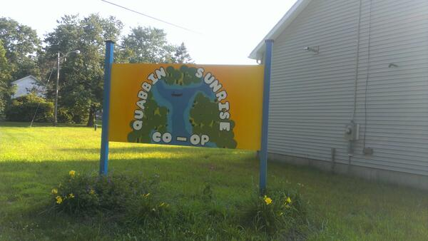 Quabbin Sunrise Co-op's new sign