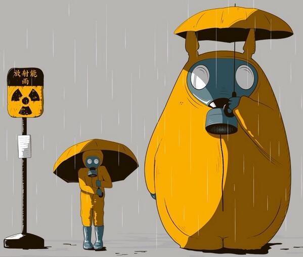 かばさわ洋平 On Twitter Fbで海外の方が描いたイラスト 福島原発