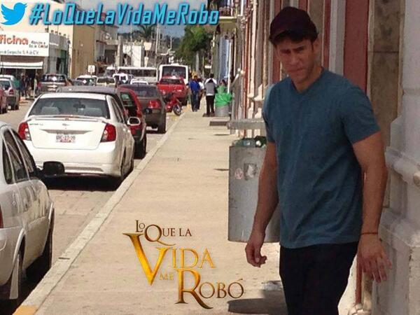 """Grabaciones de """"Lo Que La Vida Me Robó"""" de Televisa. @CarlosDeLaMota"""