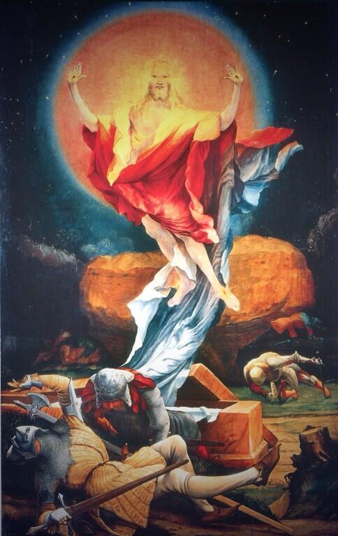Risultati immagini per MATTHIAS GRUNEWALD RESURREZIONE
