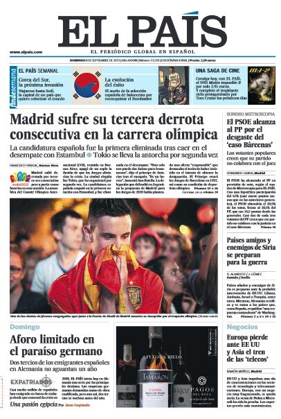 El País  - Magazine cover