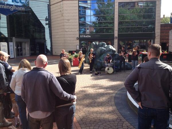 Occasional Brass band kick of today's roaming music by the canal in the sunshine #bham4sq http://twitter.com/rjphawley/status/376662862342918144/photo/1