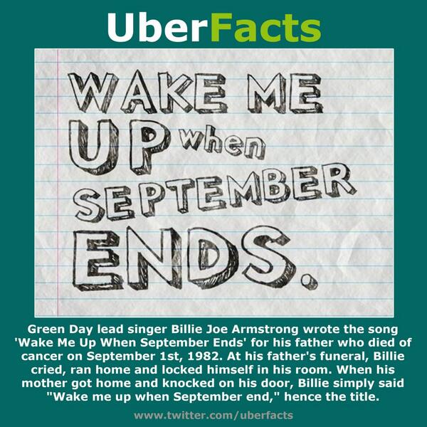 uberfacts on twitter the story behind green day s wake me up when