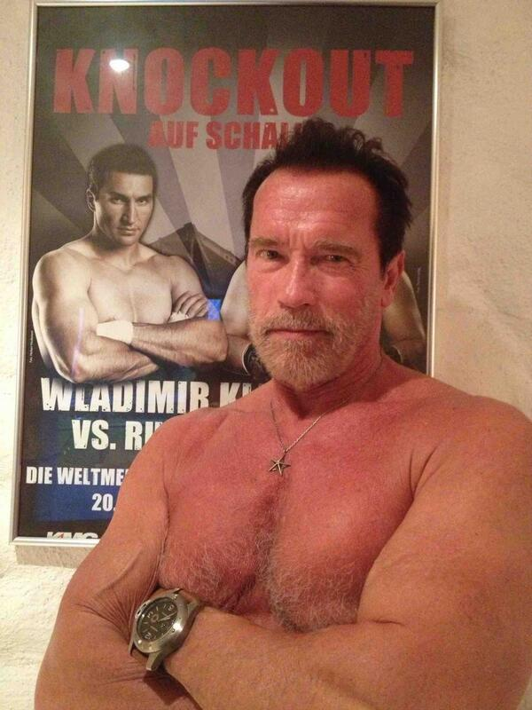 arnold on twitter klitschko great shot it s fantastic to see one of my favorite champions nailing my pose right back at you http t co pdi3saxqm5