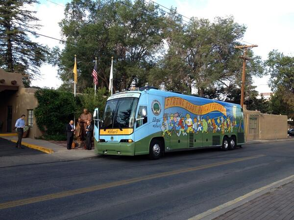 Now that's a bus. #edtour13 http://twitter.com/chbrenchley/status/377072934231080962/photo/1