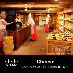While you're in Amsterdam for #IBCshow 2013, do not leave Amsterdam without trying some cheese at a market stand. http://twitter.com/CiscoSPVideo/status/377091531746082816/photo/1