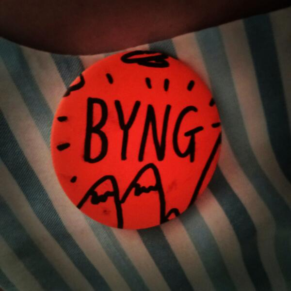 Great event today @timmy666 Thanks to the lovely @acolourfulcrowd for pressing me my very own button #gallerycamp13 ~ http://twitter.com/ByngSquirrel/status/377188605716070400/photo/1