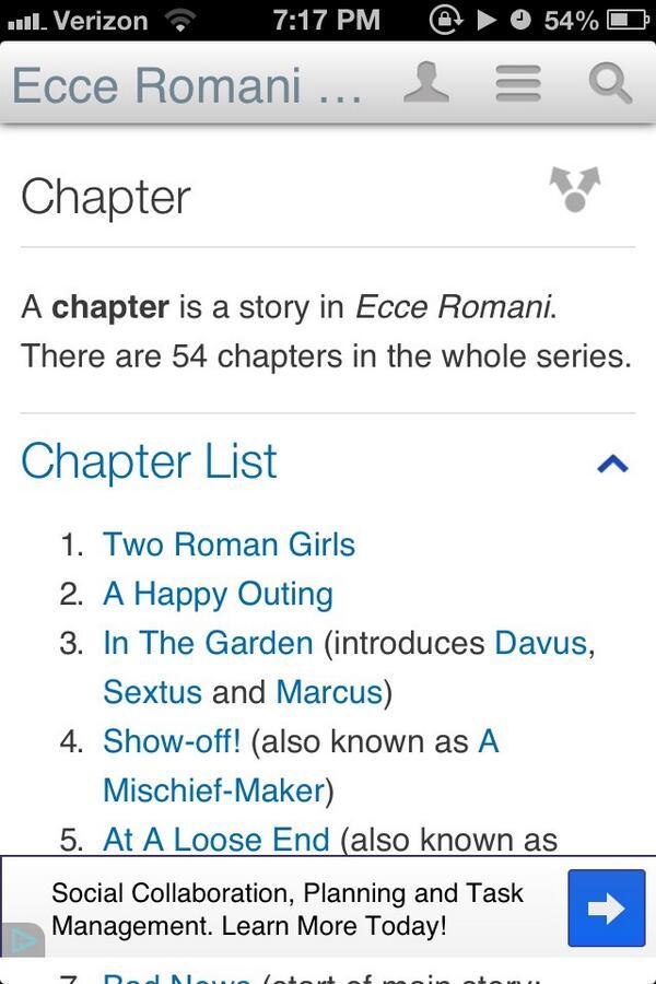 Ecce Romani Translation Chapter 19