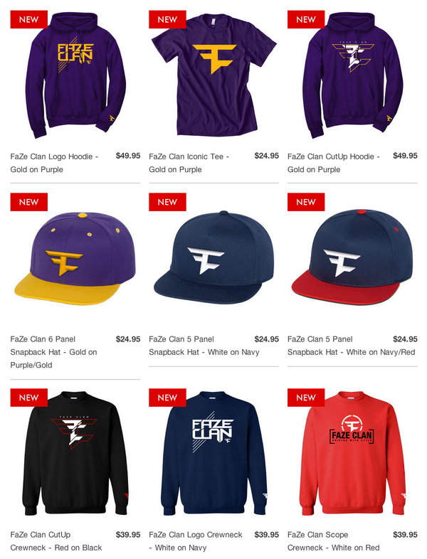 """FaZe Clan on Twitter: """"We have a lot of sick new items ...  FaZe Clan on Tw..."""