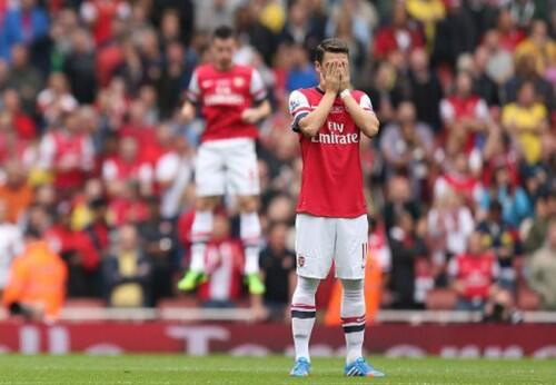 BU1 Lr CEAAaJRM Mesut Özil shows off his magical powers by making Laurent Koscielny levitate (via @NOT MOTD)