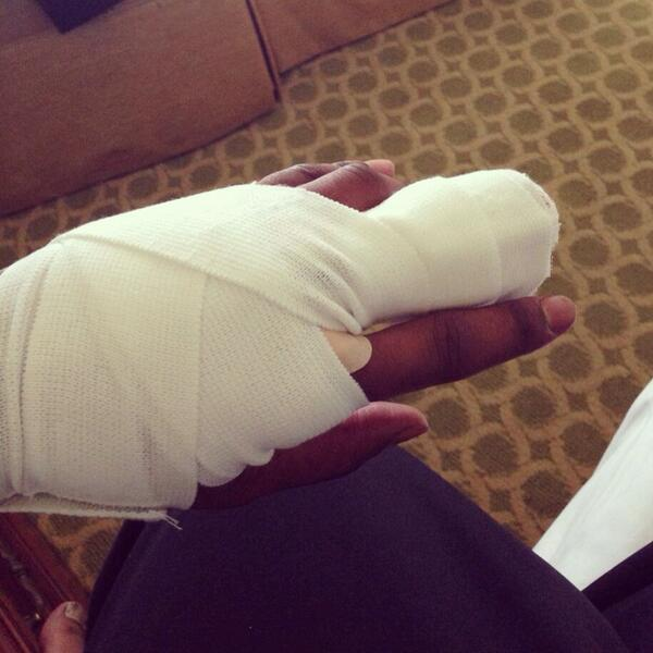 Pro Football Player Tweets Photo Of Finger Severed During Game