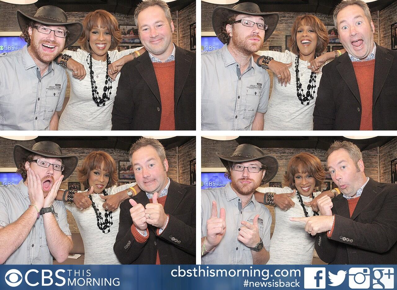 Graham Hughes, Gayle King and Chris Jones on CBS This Morning
